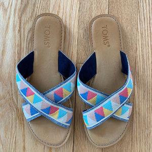 Toms Viv Fabric Slide sandals (7.5)